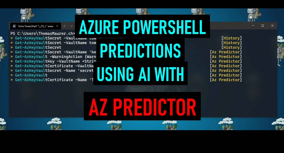 Azure PowerShell Predictions using AI with Az Predictor