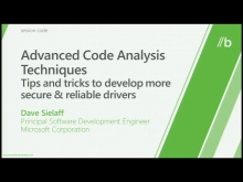 Advanced driver code analysis techniques