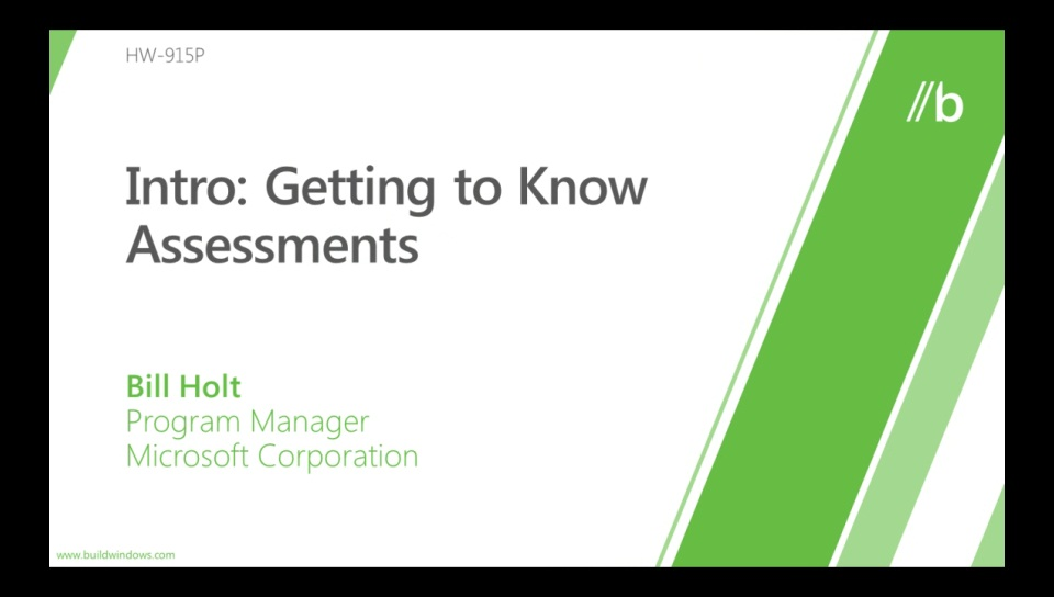 Introduction to assessments