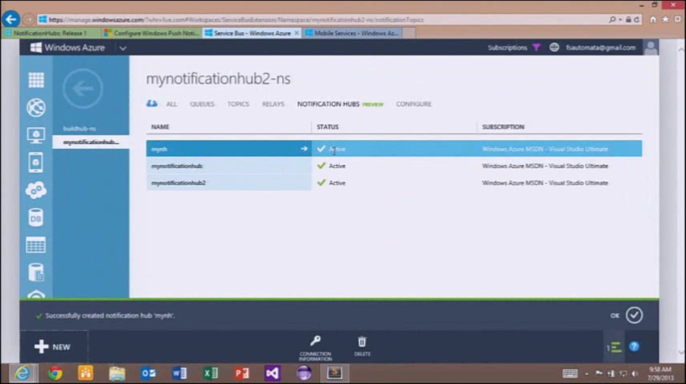 Windows Azure Notification Hubs