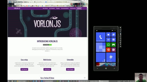 Use VorlonJS to remotely debug JavaScript applications