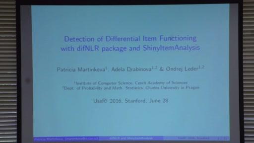 Detection of Differential Item Functioning with difNLR function