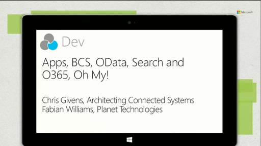 Apps, BCS, OData, Search and O365…Oh My