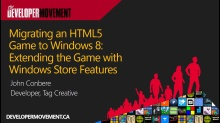 Migrating an HTML5 Game to Windows 8: Extending the Game with Windows Store Features