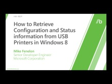 How to retrieve configuration and status information from USB printers in Windows 8