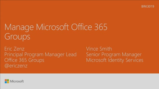 Manage Microsoft Office 365 Groups