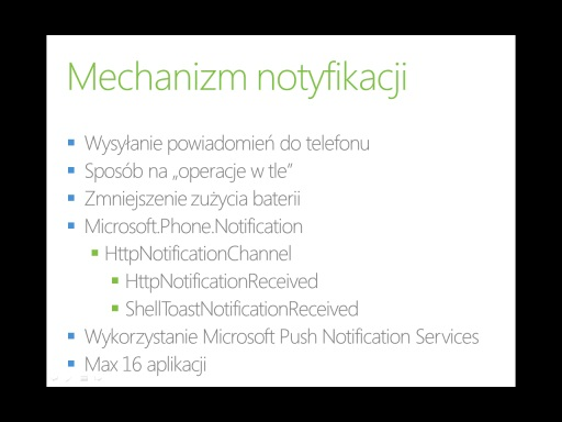 Kurs Windows Phone 7 - Część 9 - Push notifications