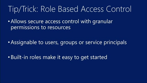 Azure Role Based Access Control