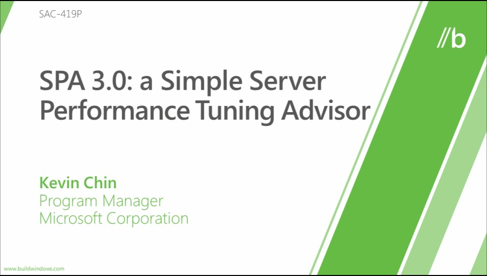 SPA 3.0 – A simple server performance tuning advisor