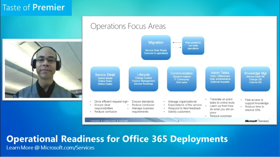Taste of Premier: Operational Readiness for Office 365 Deployments