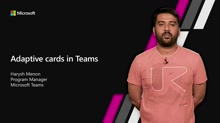 Adaptive cards in Teams