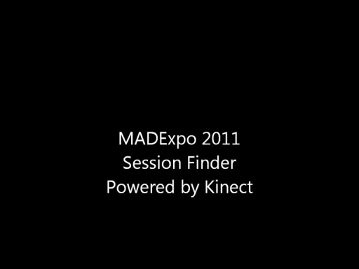Video: MADExpo Kinect-enabled Session Finder