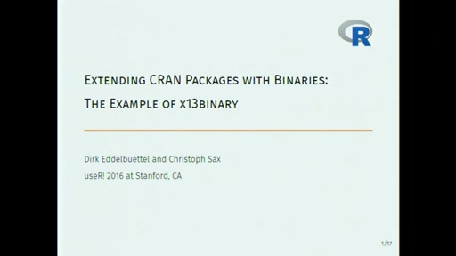 Extending CRAN packages with binaries: x13binary