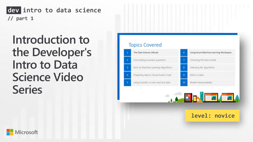 Introduction to the Developer's Intro to Data Science Video Series (1 of 28)