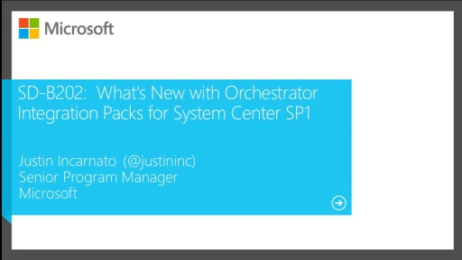 What's New with Orchestrator Integration Packs for System Center and SP1