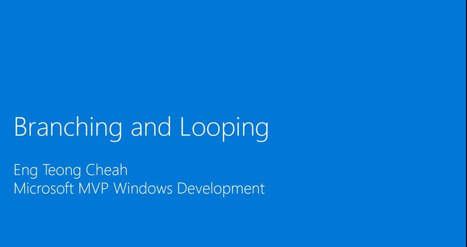 Xamarin: Branching and Looping