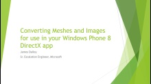 Automatically convert your 3D meshes and assets for use in your Windows 8 and Windows 8 Phone apps