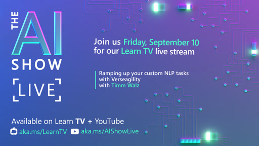 AI Show | Ramping up your custom NLP tasks with Verseagility | Episode 30