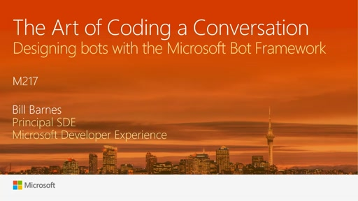 The Art of Coding a Conversation: Designing bots with the Microsoft Bot Framework