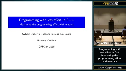 Programming with less effort in C++: Measuring the programming effort with metrics