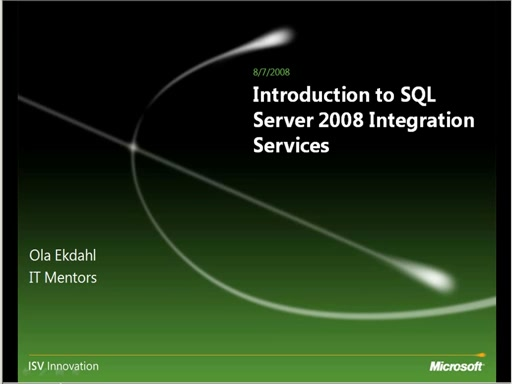 Введение в SQL Server 2008 Integration Services