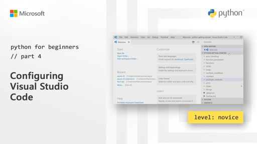 Python for Beginners [4 of 44] Configuring Visual Studio Code