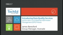 Data Quality Services in Enterprise Info Management