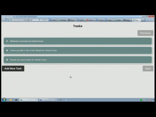 Cloud Cover Episode 40 - ASP.NET MVC 3 with Table Storage