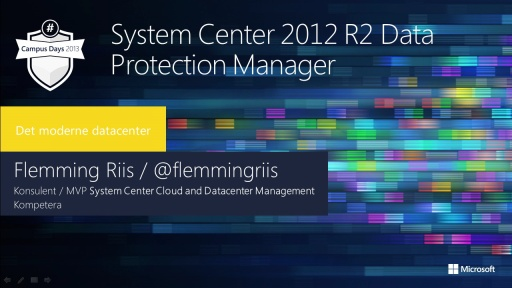System Center 2012 R2 Data Protection Manager