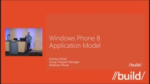 Windows Phone 8: Application Model (Repeat)