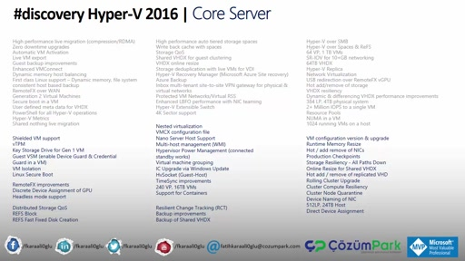 Hyper-V Services Kurulumu (Windows Server 2016 Core)