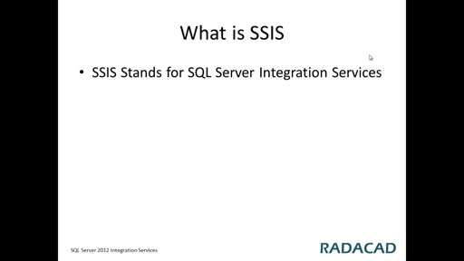 Introduction to SSIS