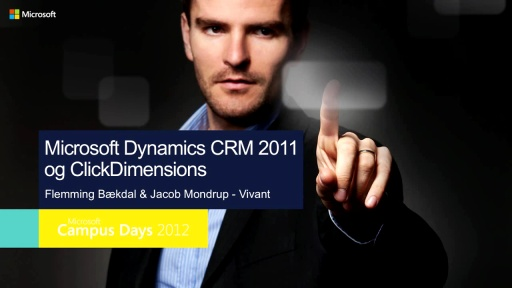 Microsoft Dynamics CRM og integration til ClickDimensions – en Marketing Automation løsning