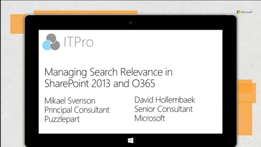 Managing Search Relevance in SharePoint 2013 and O365