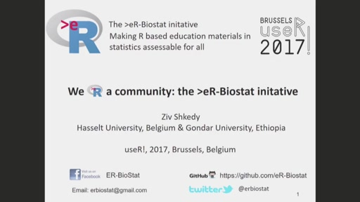 We R a Community-making high quality courses for high education accessible for all:The >eR-Biostat initiative
