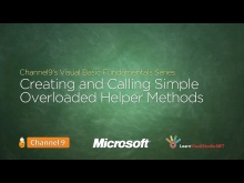 Creating and Calling Simple Overloaded Helper Methods - 10