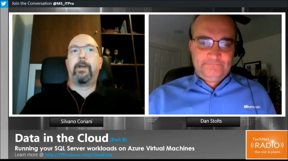 TechNet Radio: Data in the Cloud (Part 8) - Running your SQL Server workloads on Azure Virtual Machines
