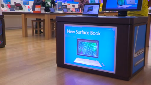 B:roll - Microsoft Surface Book and Surface Pro 4 Hit Store Shelves Today
