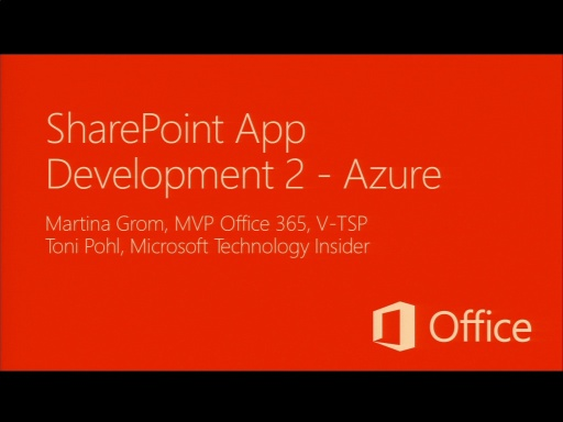Katapult.07: Die neue Office Plattform - Deep Dive - SharePoint 2013 App Development 2