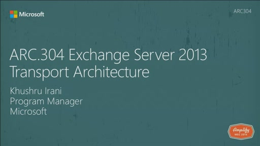 Exchange Server 2013 Transport Architecture