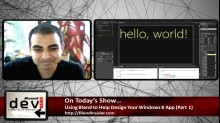 Microsoft DevRadio: (Part 1) Using Blend to Help Design Your Windows 8 Apps