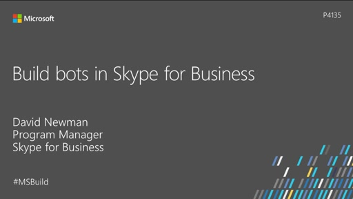 Build bots in Skype for Business
