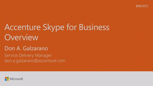 Hear our Skype story: deploying at Accenture