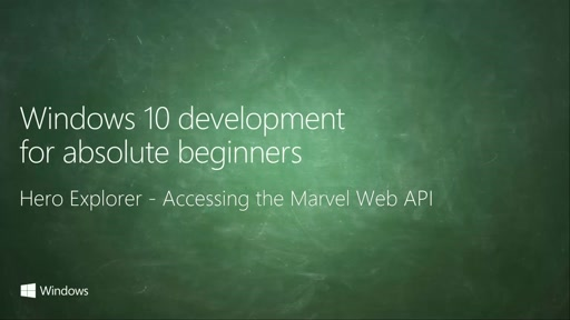 UWP-072 - Hero Explorer - Accessing the Marvel Web API