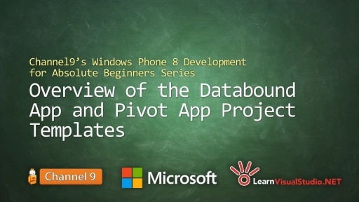 Part 10: Overview of the Databound App and Pivot App Project Templates