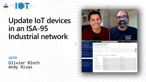 Update IoT devices in an ISA-95 Industrial network