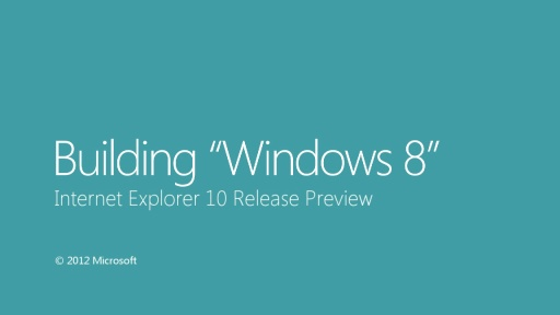 Internet Explorer 10 Release Preview