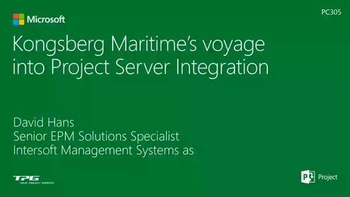 Kongsberg Maritime's voyage into Project Server Integration with BizTalk and Dynamics AX