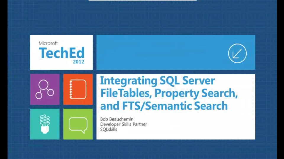 Integrating SQL Server Filetables, Property Search, and FTS/Semantic Search