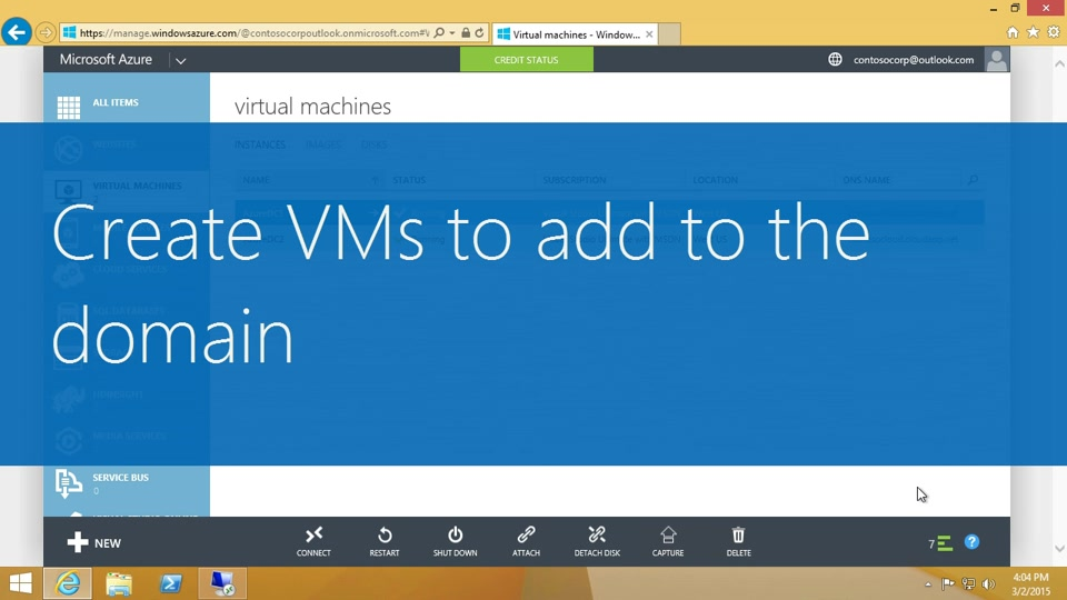 Create VMs to add to the domain